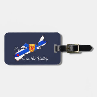 My Heart is the valley Nova Scotia luggage tag