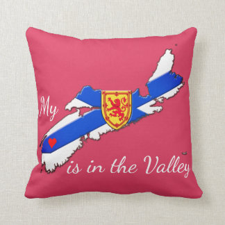 My Heart is  the valley Nova Scotia pillow pink