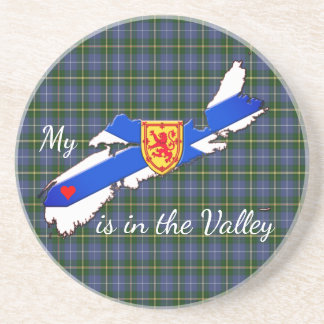 My Heart is the valley Nova Scotia sandstone Coaster