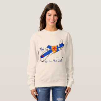 My Heart is the valley Nova Scotia sweater
