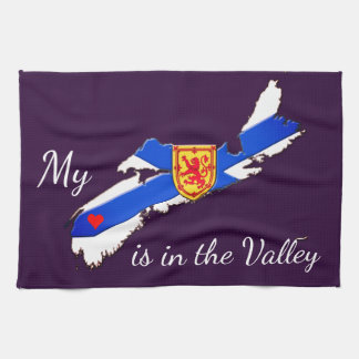 My Heart is the valley Nova Scotia  towel purple