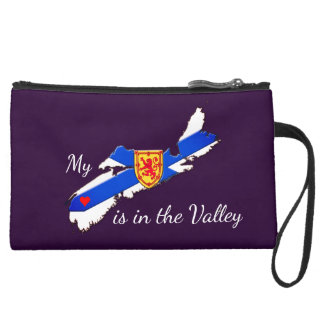 My Heart is the valley Nova Scotia wristlet purse