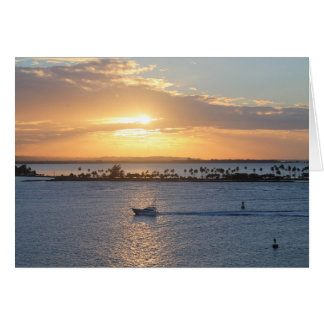"""""""My heart is with Puerto Rico"""" Puerto Rico sunset Card"""