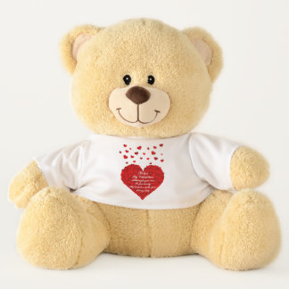 My Heart  Is With You Valentine Teddy Bear