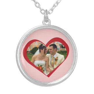 My heart is yours photo cutout red pink template necklace