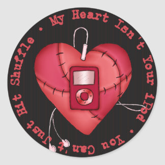 My Heart Isn t Your iPod Sticker