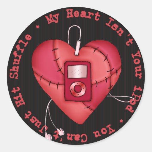 My Heart Isn't Your iPod Sticker