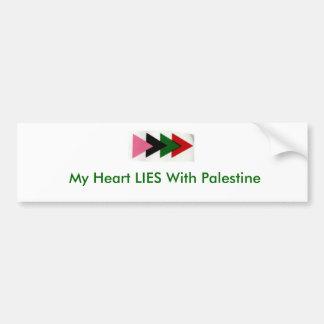 My Heart LIES With Palestine Bumper Sticker
