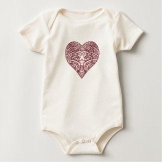 """My Heart"" Organic Infant Baby Bodysuit"