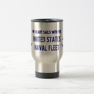 MY HEART SAILS WITH THE UNITED STAINLESS STEEL TRAVEL MUG