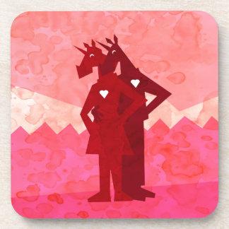 My Heart Skips a Beat Unicorn Coasters