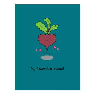 """My Heart Skips a Beet!"" Postcard"