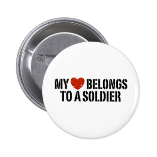My Heart Soldier Pinback Buttons