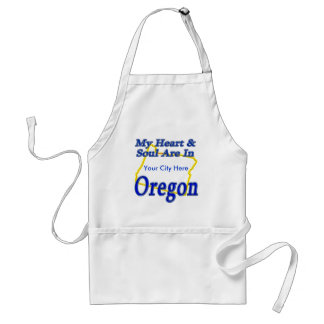My Heart & Soul Are In Oregon Standard Apron
