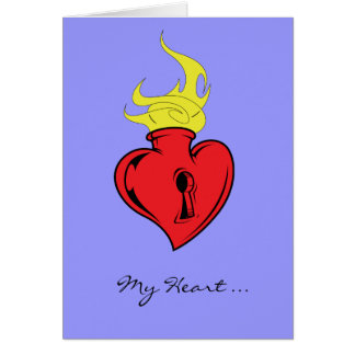 My Heart ... Your Key - Valentine's Day Greeting Card