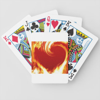 My heart's on fire for you playing cards
