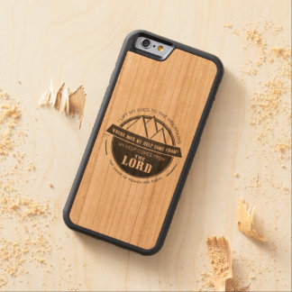 My help comes from the Lord, Mountain Logo Verse Cherry iPhone 6 Bumper Case