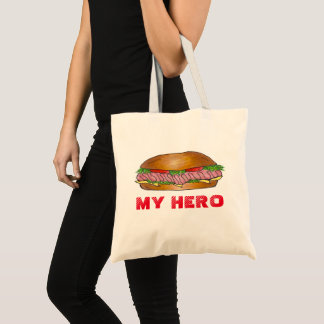 My Hero Deli Submarine Sandwich Grinder Hoagie Sub Tote Bag