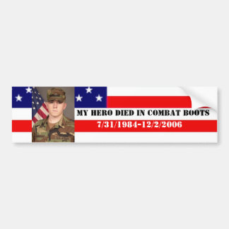 My Hero Died In Combat Boots Bumper Sticker
