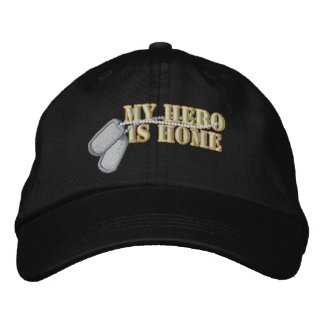 My Hero Is Home Embroidered Hat