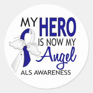 My Hero Is My Angel ALS Classic Round Sticker