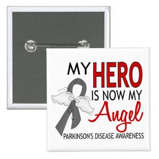 My Hero Is My Angel Parkinson's Disease 15 Cm Square Badge