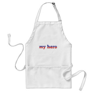 My Hero Stars and Stripes Patriotic Red White Blue Standard Apron