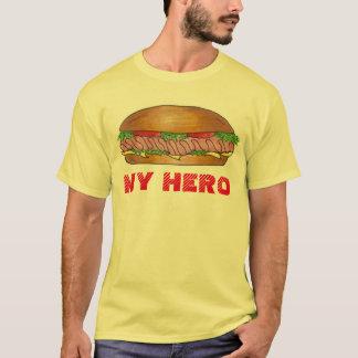 MY HERO Submarine Sub Sandwich Grinder Hoagie Tee