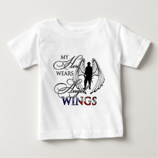 My Hero Wears Angel Wings Baby T-Shirt