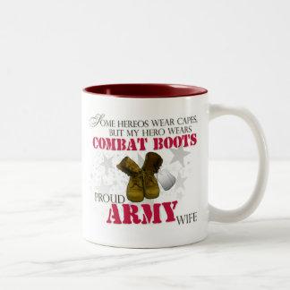 My Hero wears Combat Boots - Army Wife Coffee Mugs
