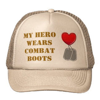 My Hero Wears Combat Boots Cap