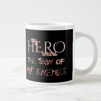 My Hero Wears Skin of Enemies Large Coffee Mug
