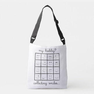 My Hobby? Collecting Smiles Cross Body Tote Bag