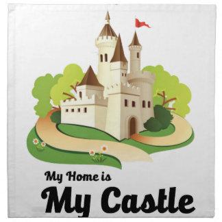 my home my castle napkin
