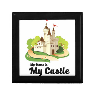 my home my castle small square gift box