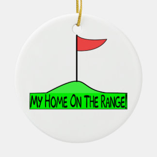 My Home On The Range Golf Ceramic Ornament