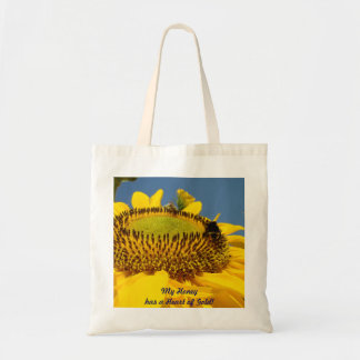 My Honey has a Heart of Gold tote bag gifts Sunny