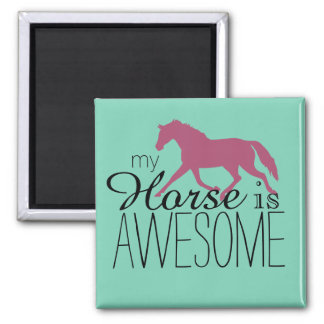 My Horse Is Awesome Equestrian Magnet