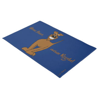 My house, my rules! Irish Terrier Doormat