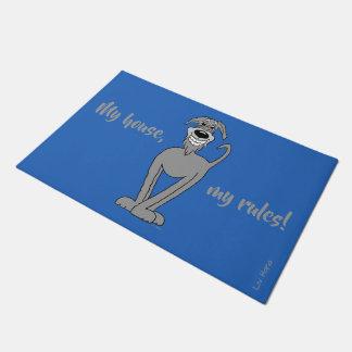 My house, my rules! Irish Wolfshound Doormat