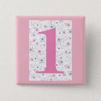 "my house number -1- 5.1cm (2"") Square Badge"