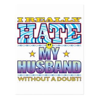 My Husband Hate Face Postcard