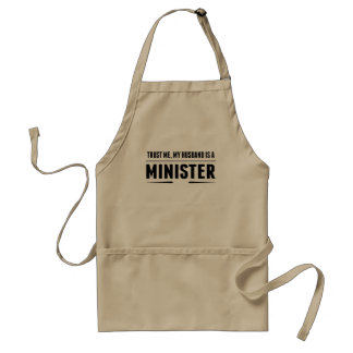 My Husband Is A Minister Standard Apron