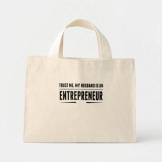My Husband Is An Entrepreneur Mini Tote Bag