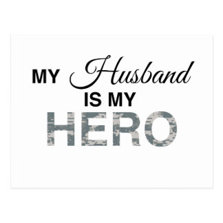 My Husband is my Hero Digital Camouflage Post Cards
