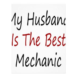 My Husband Is The Best Mechanic 21.5 Cm X 28 Cm Flyer