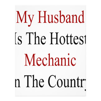 My Husband Is The Hottest Mechanic In The Country 21.5 Cm X 28 Cm Flyer
