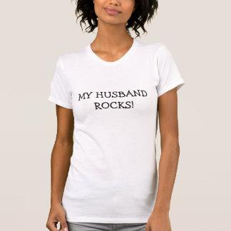 MY HUSBAND ROCKS! TSHIRTS