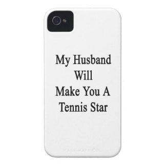 My Husband Will Make You A Tennis Star iPhone 4 Case-Mate Case