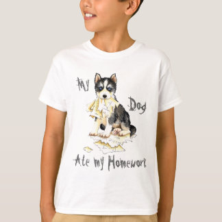My Husky Ate My Homework Tshirts